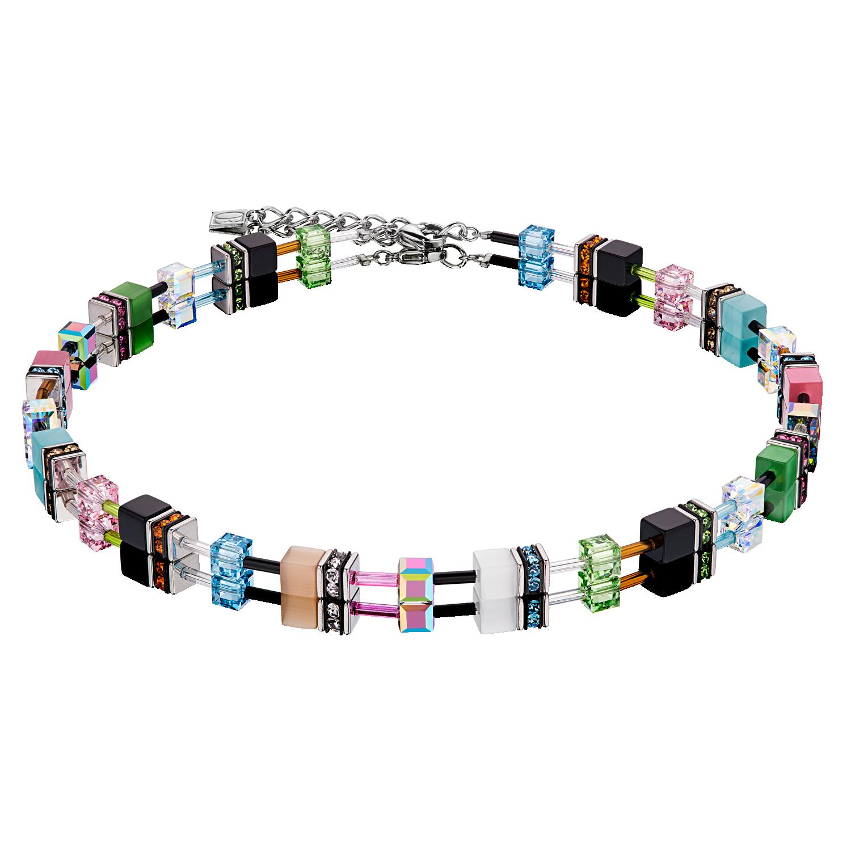 GeoCUBE® Halskette Multicolour Spring Pastel