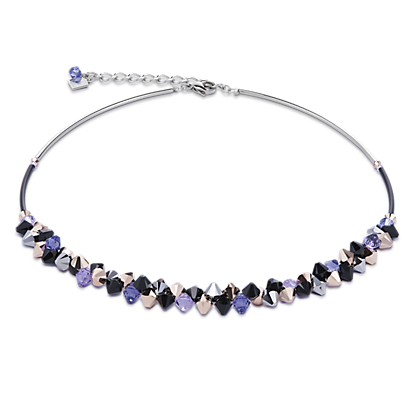 Necklace Swarovski® Crystals   stainless steel purple 4938100800 fab312d69dee