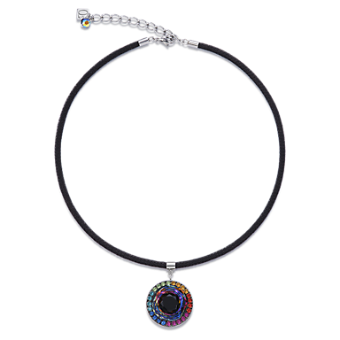 c71412f9eb67b Necklace Swarovski® Crystals   glass worked by hand   mesh multicolour    COEUR DE LION